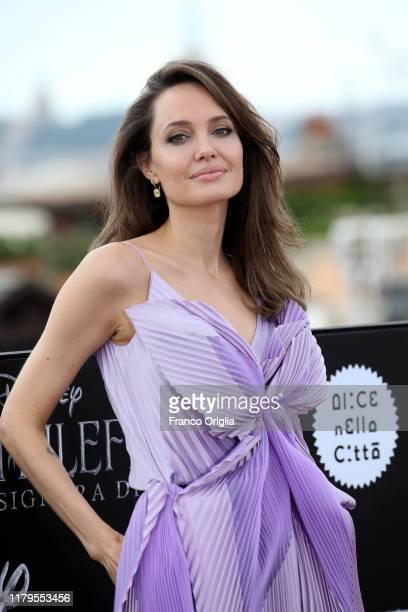 Angelina Jolie attends the photocall of the movie Maleficent – Mistress Of Evil at Hotel De La Ville on October 07 2019 in Rome Italy