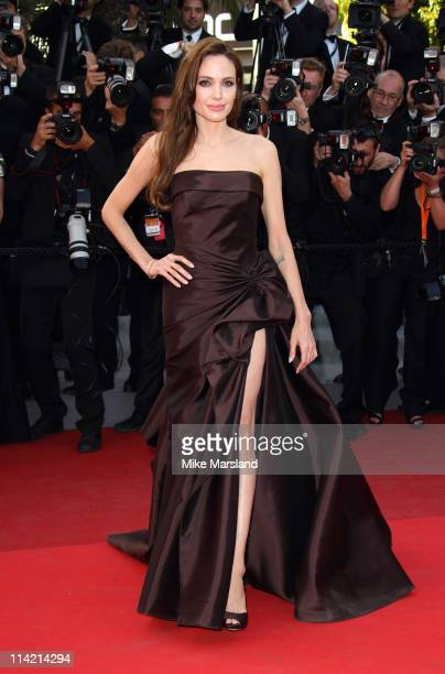 """Angelina Jolie attends the """"The Tree Of Life"""" premiere during the 64th Annual Cannes Film Festival at Palais des Festivals on May 16, 2011 in Cannes,..."""