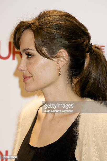 Angelina Jolie attends 'The Tourist' photocall at Villamagna Hotel on December 16 2010 in Madrid Spain