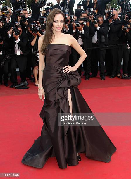 """Angelina Jolie attends """"The Tree Of Life"""" Premiere during the 64th Annual Cannes Film Festival at Palais des Festivals on May 16, 2011 in Cannes,..."""