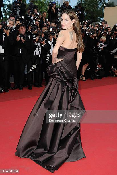 Angelina Jolie attends The Tree Of Life Premiere during the 64th Annual Cannes Film Festival at Palais des Festivals on May 16 2011 in Cannes France