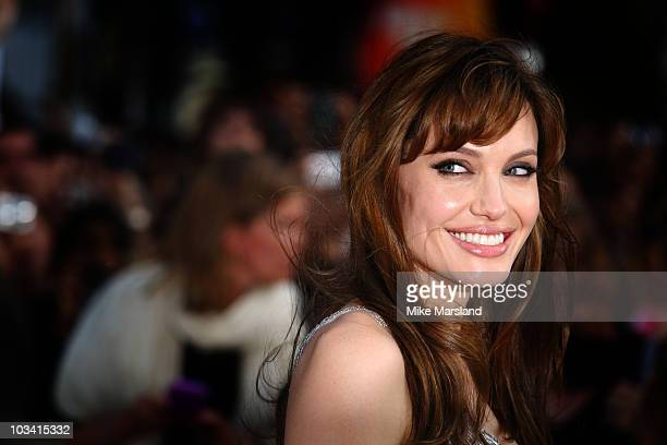Angelina Jolie attends the UK film premiere of Salt at the Empire Leicester Square on August 16 2010 in London England