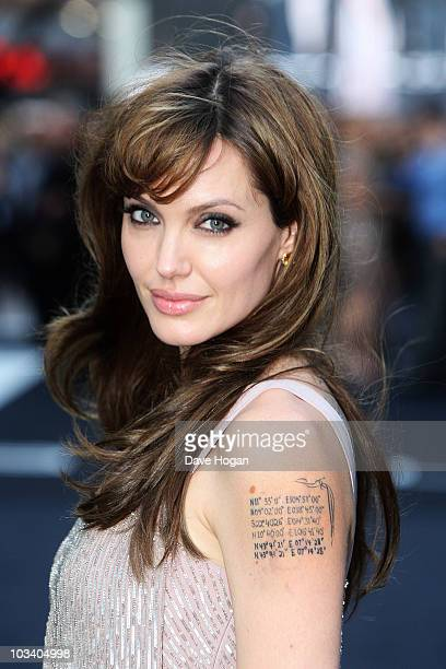 Angelina Jolie attends the UK premiere of Salt held at the Empire Leicester Square on August 16th 2010 in London England