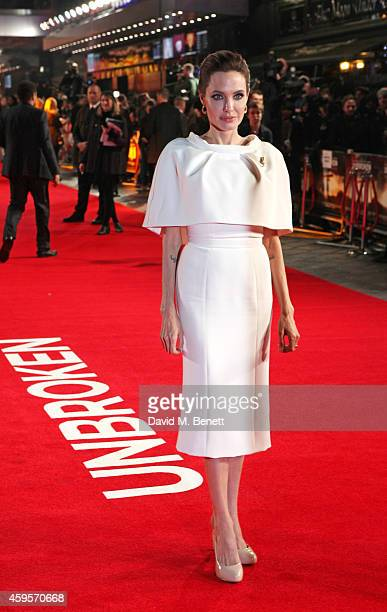 Angelina Jolie attends the UK Premiere of Unbroken at Odeon Leicester Square on November 25 2014 in London England