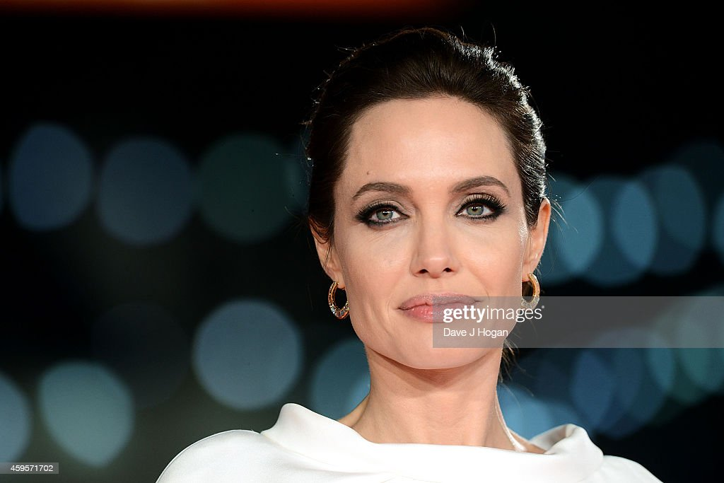 Angelina Jolie attends the UK Premiere of 'Unbroken' at Odeon Leicester Square on November 25, 2014 in London, England.