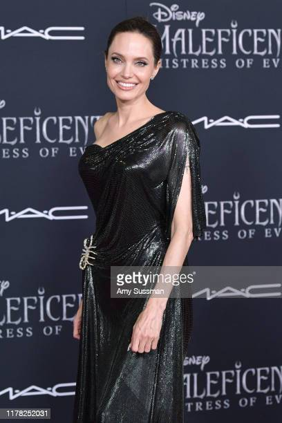 "Angelina Jolie attends the world premiere of Disney's ""Maleficent: Mistress Of Evil"" at El Capitan Theatre at El Capitan Theatre on September 30,..."