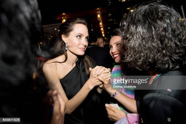 Angelina Jolie attends the World Premiere of Netflix's Film's 'First They Killed My Father' during the Toronto International Film Festival at...