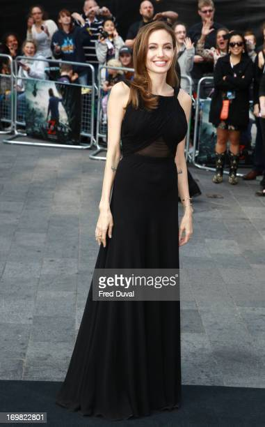 Angelina Jolie attends the World War Z world premiere at the Empire Leicester Square on June 2, 2013 in London, England.