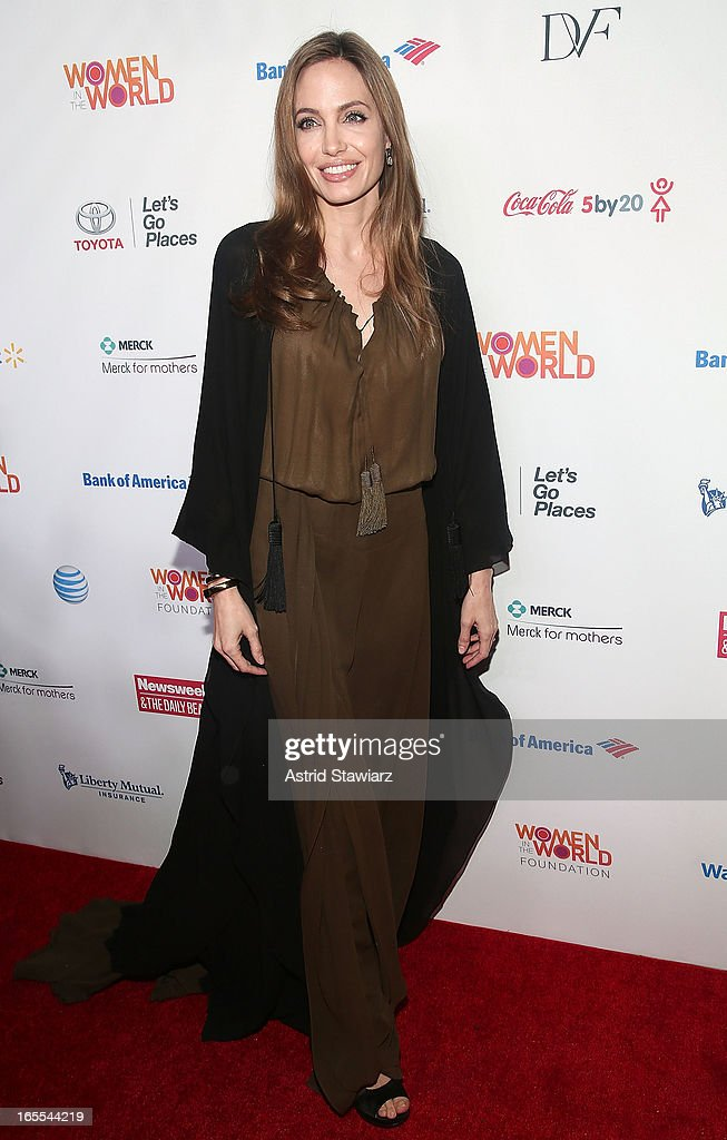Angelina Jolie attends Women in the World Summit 2013 on April 4, 2013 in New York City.
