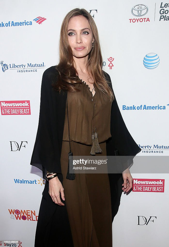 Angelina Jolie attends Women in the World Summit 2013 on April 4, 2013 in New York, United States.