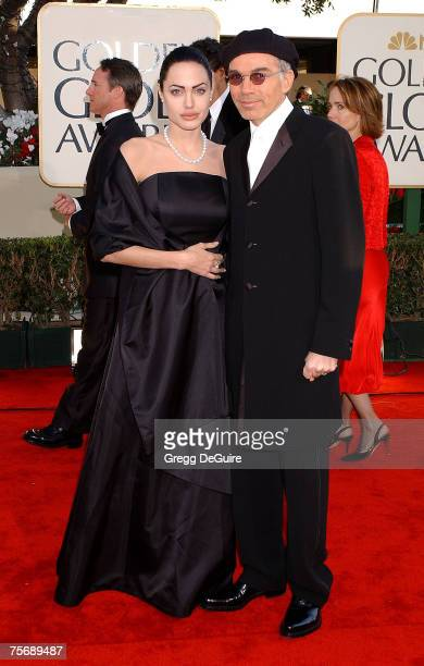Angelina Jolie Billy Bob Thornton arrive at the Golden Globe Awards at the Beverly Hilton January 20 2002 in Beverly Hills California