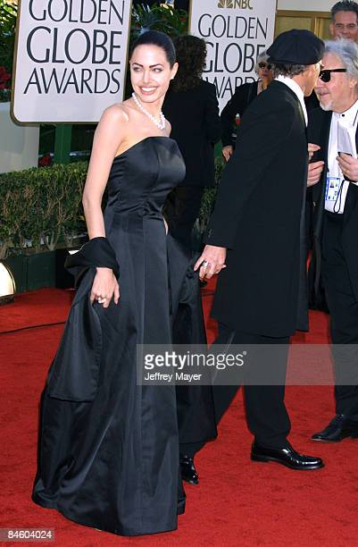 Angelina Jolie Billy Bob Thornton arriving for the Golden Globe Awards at the Beverly Hilton Hotel in Beverly Hills California January 20 2002