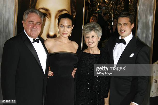 Angelina Jolie Brad Pitt and Brad Pitt's parents arrive at the Los Angeles premiere of The Curious Case Of Benjamin Button at the Mann's Village...