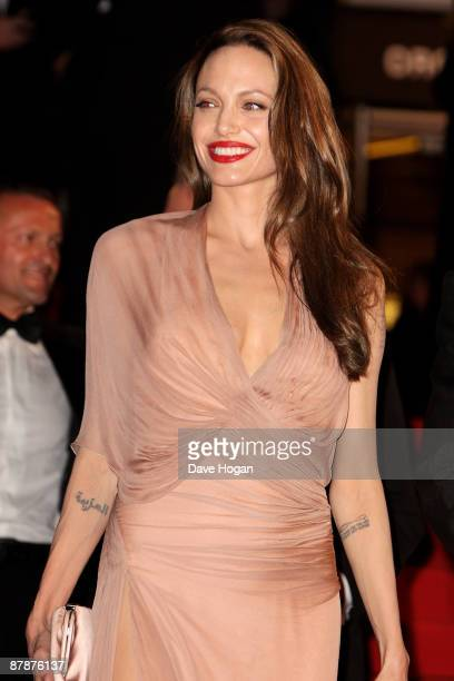 Angelina Jolie departs the Inglourious Basterds Premiere held at the Palais Des Festivals during the 62nd International Cannes Film Festival on May...