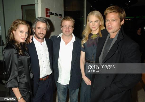 Angelina Jolie Dermot Mulroney and Eric Gilliland producers Nicole Kidman and Brad Pitt