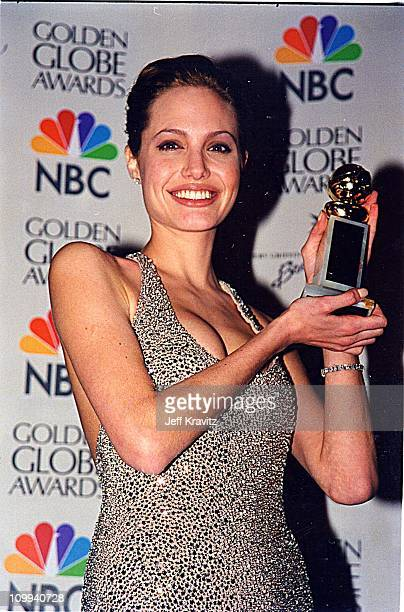 Angelina Jolie during 1999 Golden Globe Awards in Los Angeles California United States