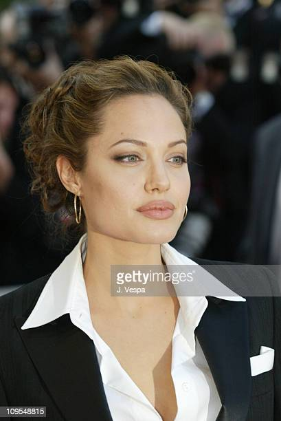Angelina Jolie during 2004 Cannes Film Festival 'Shrek 2' Premiere at Palais Du Festival in Cannes France