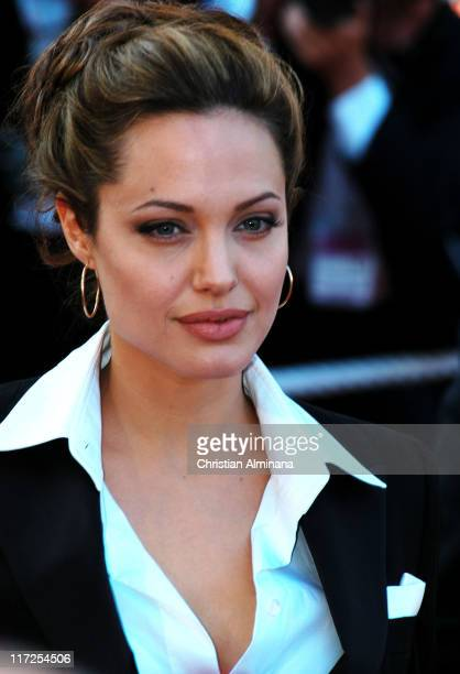 Angelina Jolie during 2004 Cannes Film Festival Shrek 2 Premiere at Palais Du Festival in Cannes France