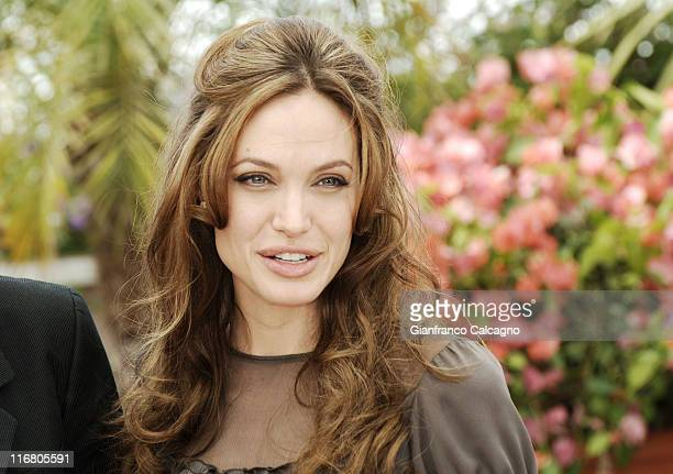 """Angelina Jolie during 2007 Cannes Film Festival - """"A Mighty Heart"""" Photocall at Palais des Festivals in Cannes, France."""