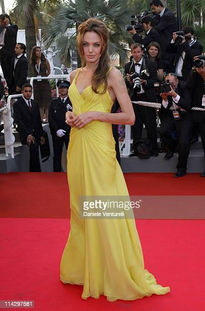 Angelina Jolie during 2007 Cannes Film Festival 'Ocean's Thirteen' Premiere at Palais des Festivals in Cannes France