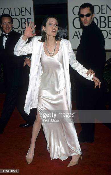 Angelina Jolie during 57th Annual Golden Globe Awards Arrivals at Beverly Hilton Hotel in Los Angeles California United States