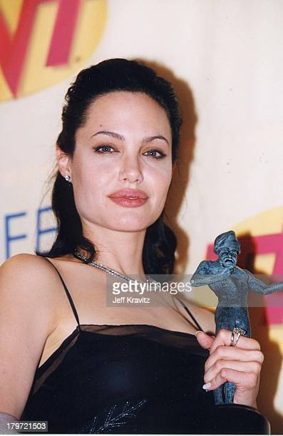 Angelina Jolie during 6th Annual Screen Actors Guild Awards at Shrine Auditorium in Los Angeles California United States