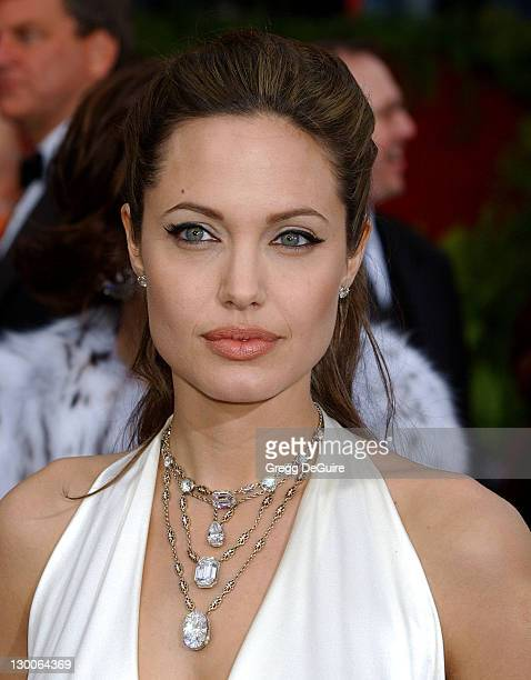 Angelina Jolie during 76th Annual Academy Awards Arrivals by Gregg DeGuire at Kodak Theatre in Hollywood California United States