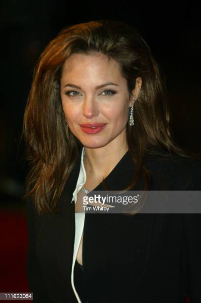 Angelina Jolie during 'Alexander' London Premiere Arrivals at Odeon Leicester Square in London Great Britain