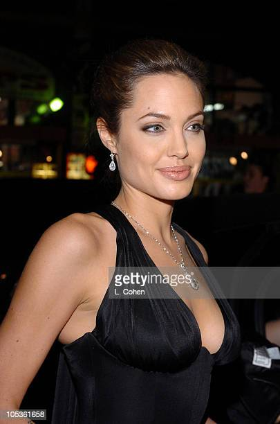 Angelina Jolie during 'Alexander' Los Angeles Premiere Red Carpet at Grauman's Chinese Theatre in Hollywood California United States
