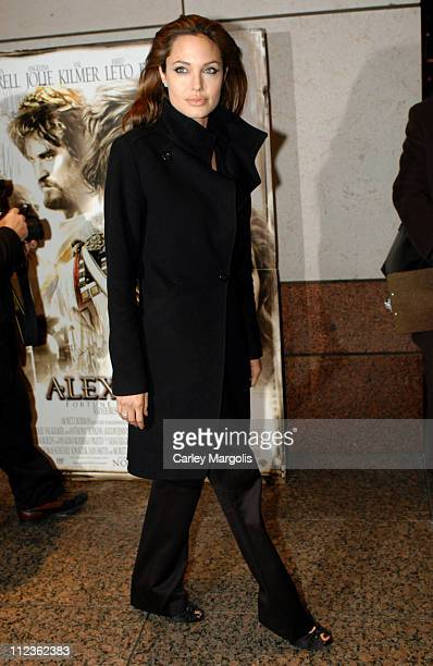 Angelina Jolie during 'Alexander' New York Premiere at Walter Reade Theater in New York City New York United States