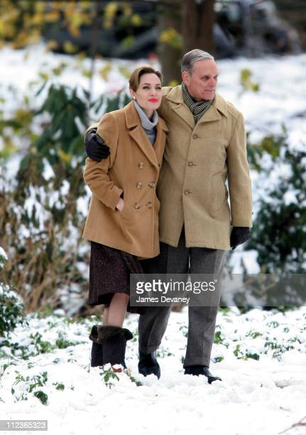 Angelina Jolie during Angelina Jolie and Matt Damon on Location for 'The Good Shepherd' December 6 2005 at Long Island in Long Island New York United...