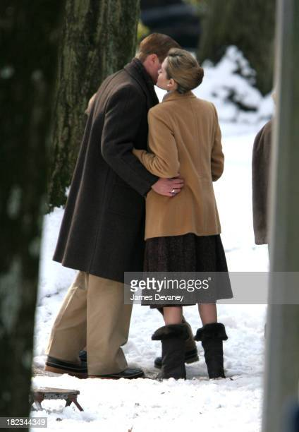 Angelina Jolie during Angelina Jolie and Matt Damon on Location for The Good Shepherd December 6 2005 at Long Island in Long Island New York United...