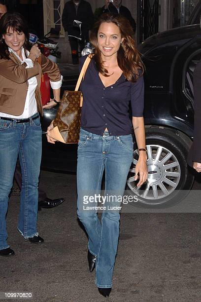 Angelina Jolie during Angelina Jolie Appears Outside Inside the Actors Studio April 25 2005 at The New School in New York City New York United States