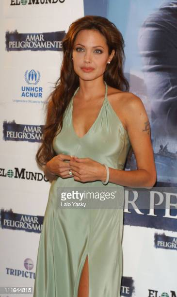 Angelina Jolie during 'Beyond Borders' World Premiere Madrid at Capitol Cinema in Madrid Spain