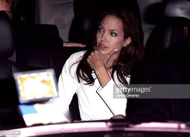 Angelina Jolie during Brad Pitt and Angelina Jolie Sighting In New York City December 10 2006 at Streets of Manhattan in New York City New York...