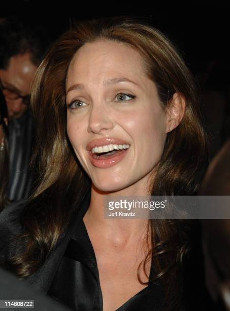 Angelina Jolie during God Grew Tired of Us Los Angeles Premiere Red Carpet and Inside at Pacific Design Center in Los Angeles California United States