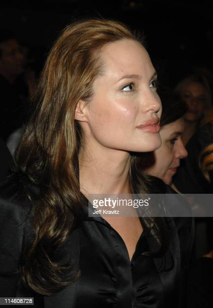 Angelina Jolie during 'God Grew Tired of Us' Los Angeles Premiere Red Carpet and Inside at Pacific Design Center in Los Angeles California United...