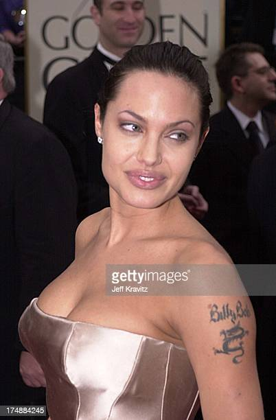Angelina Jolie during Golden Globe Awards 2001