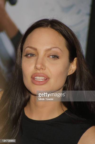Angelina Jolie during 'Lara Croft Tomb Raider' Premiere at Mann's Village Theatre in New York City New York United States