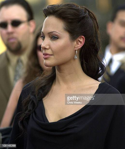 Angelina Jolie during 'Lara Croft Tomb Raider The Cradle of Life' World Premiere at Grauman's Chinese Theatre in Hollywood California United States