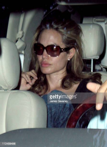 Angelina Jolie during Matt Damon and Angelina Jolie on Location for 'Good Shepherd' August 10 2005 at Streets of Manhattan in New York City New York...