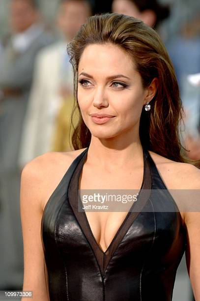 Angelina Jolie during Mr Mrs Smith Los Angeles Premiere at Mann's Westwood in Westwood California United States