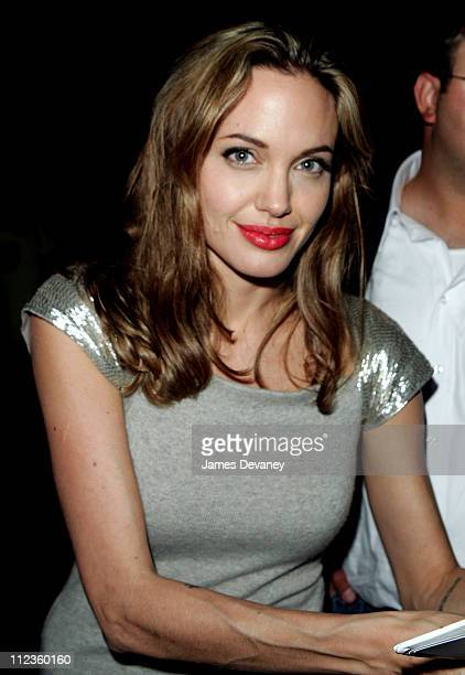 Angelina Jolie during 'Peace One Day' New York City Screening Outside Arrivals at Ziegfeld Theater in New York City New York United States