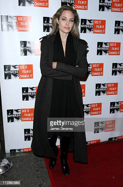 Angelina Jolie during Peter Gabriel and Angelina Jolie Host Focus for Change The First Annual Gala Dinner and Concert to Benefit 'Witness' at The...