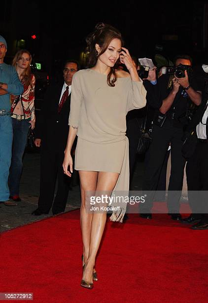 Angelina Jolie during 'Taking Lives' World Premiere at Grauman's Chinese Theater in Hollywood California United States