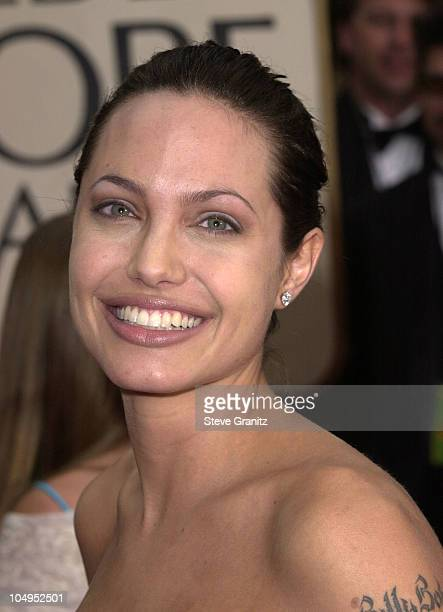 Angelina Jolie during The 58th Annual Golden Globe Awards Arrivals at Beverly Hilton Hotel in Beverly Hills California United States