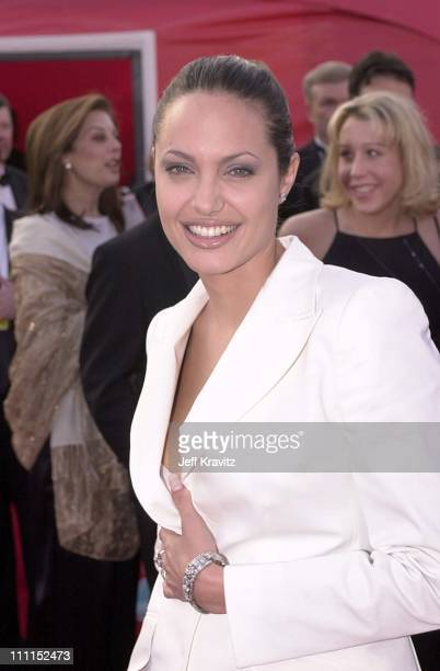 Angelina Jolie during The 73rd Annual Academy Awards at Shrine Auditorium in Los Angeles California United States