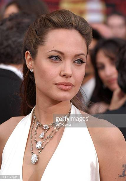 Angelina Jolie during The 76th Annual Academy Awards - Arrivals by Jeff Kravitz at Kodak Theatre in Hollywood, California, United States.