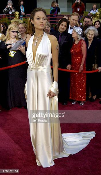 Angelina Jolie during The 76th Annual Academy Awards Arrivals by Jeff Kravitz at Kodak Theatre in Hollywood California United States