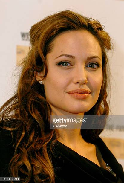 Angelina Jolie during 'We Are The Future' Charity Concert Photocall at Circus Maximus in Rome Italy
